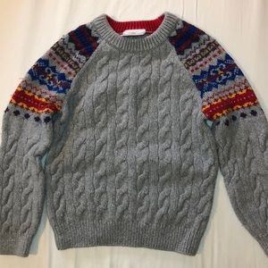 Hanna Andersson boys cable knit sweater, size 110